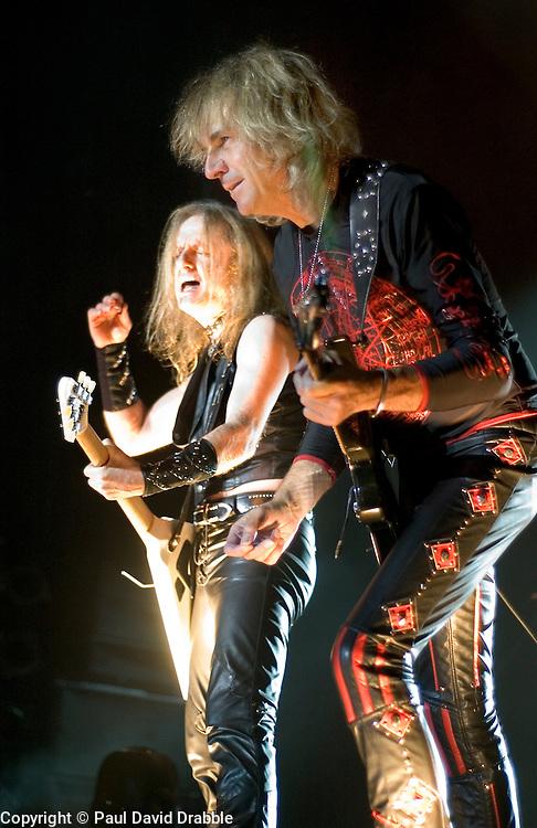 K K Downing & Glenn Tipton of Judas Priest at Priest Feast, Sheffield Arena T 13th February 2009 © Paul David Drabble