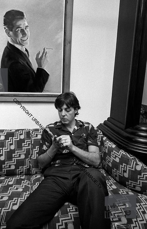 Paul McCartney at Soho Square office 1980