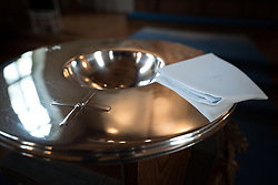 21 January 2017, Stockholm, Sweden: Baptism ceremony in Brevik Church in Lidingö near Stockholm, Sweden. Rev. Sara Hillert led the day's ceremony, which was attended by a range of friends and family.
