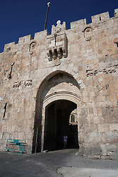 A view of the Lion's Gate to the Old City of Jerusalem. From a series of travel photos taken in Jerusalem and nearby areas. Photo date: Wednesday, August 1, 2018. Photo credit should read: Richard Gray/EMPICS