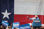 Bernie Sanders speaks at a rally at Discovery Green outside the George R. Brown Convention Center in Houston, TX Wednesday April 24, 2019.