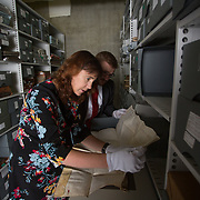 25.08. 2017.                                                      <br /> Limerick City and County Council Archives have become available in digitised Online platform. <br /> Pictured at Lissalta House in the Limerick City and County Council Archive were, Jacqui Hayes, Limerick City and County Council Archivist and William O'Neill, Limerick Archives and UL Scholar. Picture: Alan Place