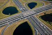 Nederland, Utrecht, Gemeente Nieuwegein, 23-06-2010; Knooppunt Oudenrijn, kruising A2 met A12. Hart van het knooppunt..Oudenrijn, A2 junction with A12..luchtfoto (toeslag), aerial photo (additional fee required).foto/photo Siebe Swart