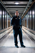 Madison Police Officer Justin Creech stands for a portrait at West High School in Madison, WI on Tuesday, April 30, 2019.