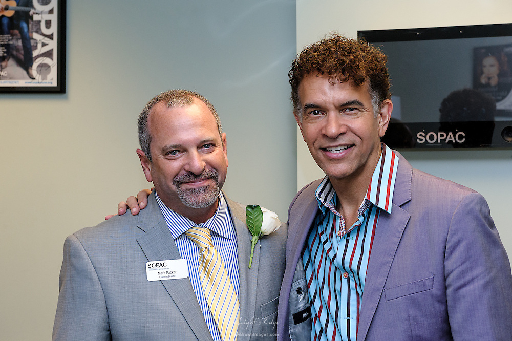 Mark Packer, Exec. Director of SOPAC, and Brian Stokes Mitchell, headliner at the SOPAC 2015 Gala.