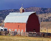 Red barn east of Mount Vernon, eastern Oregon.