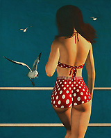 Retro style painting of a girl wearing a bikini meeting a seagull is an example of how the popular painting style was for many years actually quite conservative. These were the days when it was still possible to find many nude or very pale girls that were painting their bodies in the Fifties Retro Style. Today, a painting of this kind is still quite acceptable as well as quite popular among women. There is nothing offensive about retro painting other than the conservative nature of the images themselves.<br /> <br /> The styles of painting were often referred to as Retro Art during the 1950's and they focused on things such as the old masters and art Deco movement as well as things of that nature. While, Retro style painting of a girl wearing a bikini is a nice way to showcase the attractiveness of the female figure and it is a great way to show the appeal of the bust area. There are many different ways that one can go about using retro painting as a way to express themselves in a nice way. It takes a bit of ingenuity and imagination to create the perfect painting but anyone who gets into painting and sees how much fun one can have done it will be more than glad that they got into it in the first place.<br /> <br /> Many people do not realize that there are many different styles of painting that can be used to express oneself. When one looks at retro painting, they will see a great many ways that one can go about expressing themselves. Whether one likes the old school styles or want to go with new age techniques, there are many ways to go about using this form of expression.