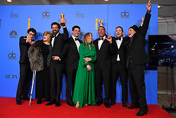 January 6, 2019 - Los Angeles, California, U.S. - ''Spider-Man: Into the Spiderverse'' won for Best Motion Picture, Animated in the Press Room during the 76th Annual Golden Globe Awards at The Beverly Hilton Hotel. (Credit Image: © Kevin Sullivan via ZUMA Wire)