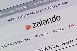 SYMBOLBILD - Zerlando, Logo, Emblem, Signet, Marke, Markenzeichen, Schriftzug, Startseite auf einem Computer, Bildschirmfoto // Zerlando, logo, emblem, logo, brand, trademark, logo, homesite on a computer, screenshot. EXPA Pictures © 2016, PhotoCredit: EXPA/ Eibner-Pressefoto/ Fleig<br /> <br /> *****ATTENTION - OUT of GER*****