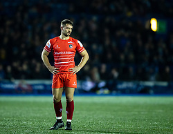 Joe Thomas of Leicester Tigers<br /> <br /> Photographer Simon King/Replay Images<br /> <br /> European Rugby Challenge Cup Round 2 - Cardiff Blues v Leicester Tigers - Saturday 23rd November 2019 - Cardiff Arms Park - Cardiff<br /> <br /> World Copyright © Replay Images . All rights reserved. info@replayimages.co.uk - http://replayimages.co.uk