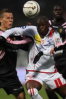 Fotball<br /> Frankrike<br /> Foto: Dppi/Digitalsport<br /> NORWAY ONLY<br /> <br /> FOOTBALL - FRENCH CHAMPIONSHIP 2007/2008 - L1 - AS NANCY v FC SOCHAUX - 21/10/2007 - MARC ANTIONE FORTUNE (NA) / MAXIME JOSSE (SO)