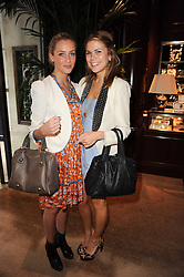 Left to right, ABBEY LILLY and MADDY SHAW at the Ralph Lauren Wimbledon Party held at Ralph Lauren, 1 New Bond Street, London on 17th June 2010.