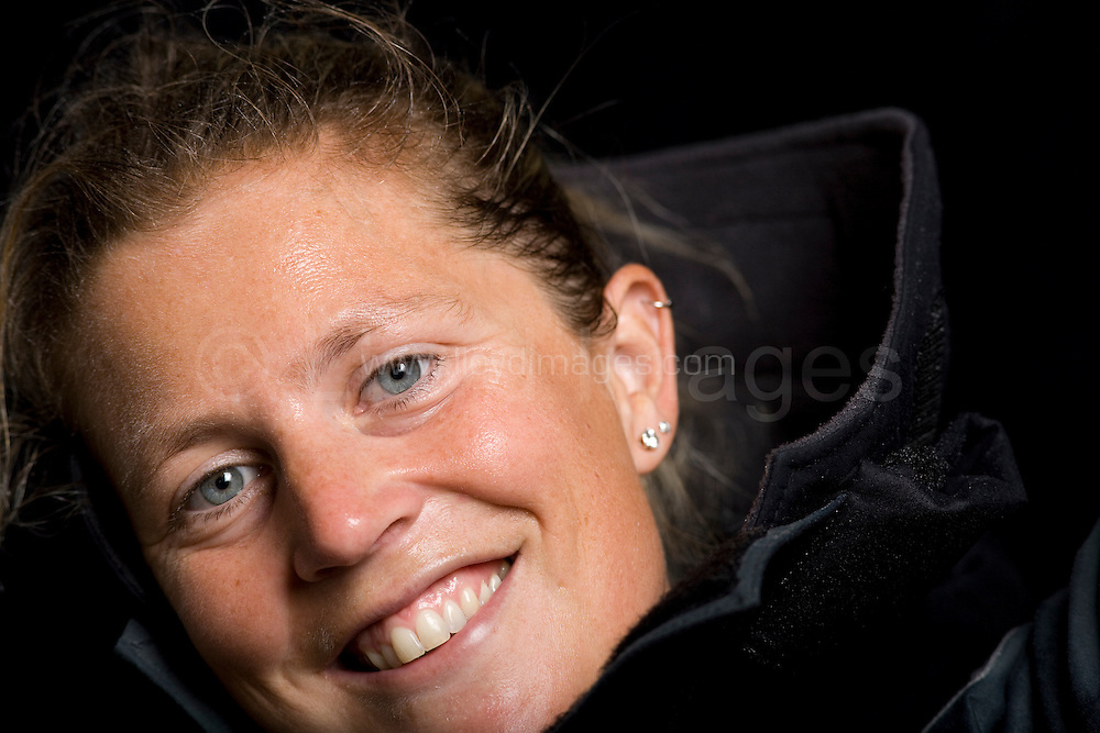 """Portaits of Sam Davies who skippers the IMOCA Open 60 boat Roxy, as she prepares for the Vendee Globe start in November 2008...Davies is one of only two women about to embark on the round the world race in a very male dominated fleet. ..All pictures must be credited """"Lloyd Images"""""""