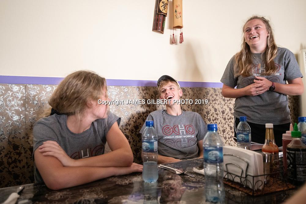 Payton Clark <br /> Matt Davis <br /> Sarah Raynor <br /> <br /> <br /> St Joe mission trip to Belize 2019. JAMES GILBERT PHOTO 2019
