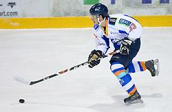 Anze Gogala of Triglav at SLOHOKEJ league ice hockey match between HK Slavija and HK Triglav Kranj, on February 3, 2010 in Arena Zalog, Ljubljana, Slovenia. Triglaw won 4:1. (Photo by Vid Ponikvar / Sportida)