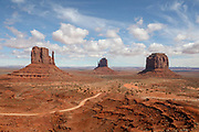 The Mittens in Monument Valley on the Utah Arizona Border