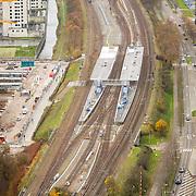 NLD/Amsterdam/20171123 - Overzicht metrostation Spaklerweg Amsterdam