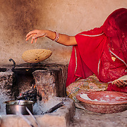 Inside a kitchen at the Bishnoi region