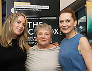 18/07/2015 repro free. Anna Belton with daughters Orina and Cathy Belton   at the World Premiere of The Match Box  a The Galway International Arts Festival at the Town Hall Theatre, Galway .  <br /> Photo:Andrew Downes:XPOSURE