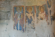 Ancient frescoes in the rupestrian complex Madonna delle Virtu and St. Nicholas of the Greeks where the Circolo Culturale La Scaletta since 1987 organizes the great exhibitions of modern sculpture, one of the events that has remained famous Matera in the world.