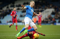Marcus Maddison of Peterborough United is tackled by Calvin Andrew of Rochdale - Mandatory by-line: Joe Dent/JMP - 25/02/2017 - FOOTBALL - ABAX Stadium - Peterborough, England - Peterborough United v Rochdale - Sky Bet League One
