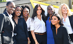 The Duchess of Sussex (centre) launches the Smart Works capsule collection at John Lewis in Oxford Street, London.