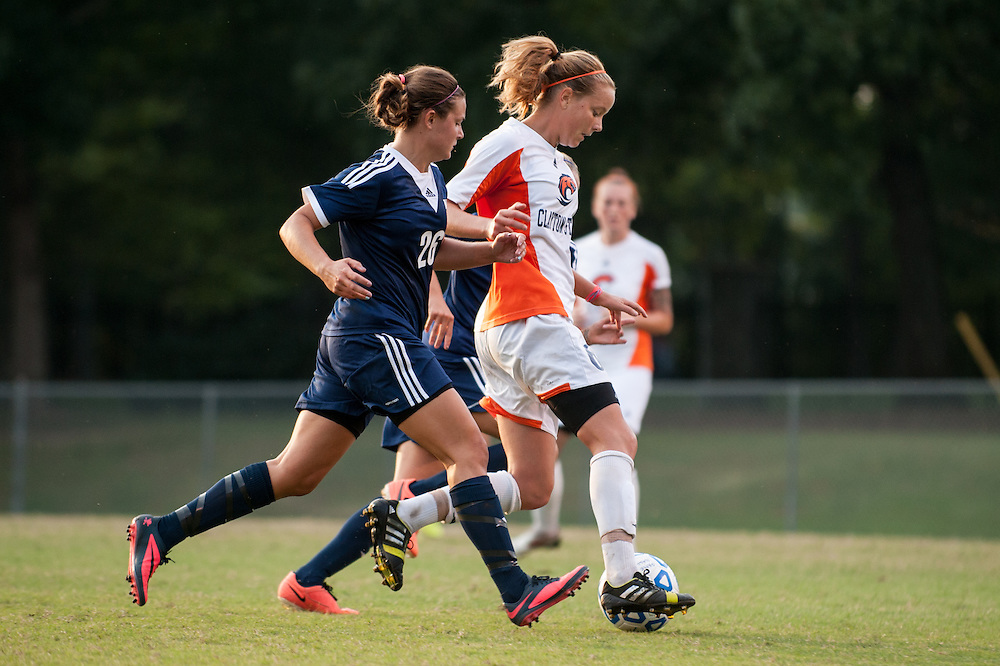 Sep 5, 2013; Morrow, GA, USA; Clayton State women's soccer player Alicia Robinson against Tampa at CSU. Both teams tied 3-3 in overtime. Photo by Kevin Liles/kevindliles.com