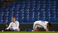 Birmingham City's  Ryan Stirk, (left) and Joe Redmond, (right) dejected after conceding their second goal of the game