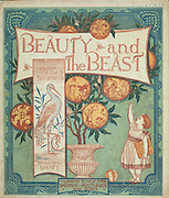 """book cover of ' Beauty and the beast ' by Walter Crane, Edmund Evans, Published in London & New York by George Routledge and Sons in 1874. Beauty and the Beast (French: La Belle et la Bête) is a fairy tale written by French novelist Gabrielle-Suzanne Barbot de Villeneuve and published in 1740 in La Jeune Américaine et les contes marins (The Young American and Marine Tales). Its lengthy version was abridged, rewritten, and published by Jeanne-Marie Leprince de Beaumont in 1756 in Magasin des enfants (Children's Collection) to produce the version most commonly retold and later by Andrew Lang in the Blue Fairy Book of his Fairy Book series in 1889. It was influenced by Ancient Greek stories such as """"Cupid and Psyche"""" from The Golden Ass, written by Lucius Apuleius Madaurensis in the 2nd century AD, and The Pig King, an Italian fairytale published by Giovanni Francesco Straparola in The Facetious Nights of Straparola around 1550."""