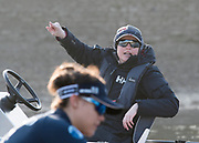 Putney, London,  Tideway Week, OUWBC. Oxford, Chief Coach, Ali WILLIAMS, Cox: Eleanor Shearer, Championship Course. River Thames, <br /> <br /> Tuesday  28/03/2017<br /> [Mandatory Credit; Credit: Peter Spurrier/Intersport Images.com ] Chief Coach, Ali WILLIAMS  Championship Course. River Thames, <br /> <br /> Tuesday  28/03/2017<br /> [Mandatory Credit; Credit: Peter Spurrier/Intersport Images.com ]