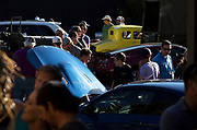 Image of the Sun Valley Road Rally with fans and cars, Sun Valley, Idaho, Pacific Northwest by Randy Wells