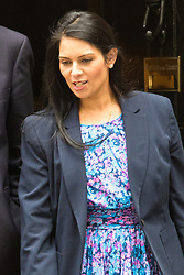 Downing Street, London, June 9th 2015. Minister of State for Employment Priti Patel leaves 10 Downing Street following the weekly meeting of the Cabinet.