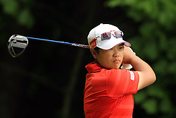 May 26, 2018 - Ann Arbor, Michigan, United States - Peiyun Chien of Pingtung, Taiwan follows her shot from the fifth tee during the third round of the LPGA Volvik Championship at Travis Pointe Country Club, Ann Arbor, MI, USA Saturday, May 26, 2018. (Credit Image: © Amy Lemus/NurPhoto via ZUMA Press)