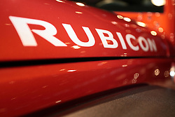 11 February 2009: Jeep Rubicon decal. The Chicago Auto Show is a charity event of the Chicago Automobile Trade Association (CATA) and is held annually at McCormick Place in Chicago Illinois.
