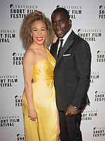 Ria Hebden and Jimmy Akingbola at the TriForce Short Film Festival gala ceremony, BFI Southbank, London, UK - 30 Nov 2019