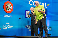 Michael van Gerwen wins the UK Open during the Coral UK Open at Butlins, Minehead, United Kingdom on 6 March 2016. Photo by Shane Healey.