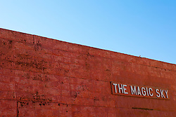 Detail of a storefront called The Magic Sky