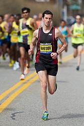 2013 Boston Marathon: Robin Watson, Canada, leads race