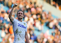 Leeds United's Luke Ayling celebrates after the match<br /> <br /> Photographer Alex Dodd/CameraSport<br /> <br /> The EFL Sky Bet Championship - Leeds United v Millwall - Saturday 30th March 2019 - Elland Road - Leeds<br /> <br /> World Copyright © 2019 CameraSport. All rights reserved. 43 Linden Ave. Countesthorpe. Leicester. England. LE8 5PG - Tel: +44 (0) 116 277 4147 - admin@camerasport.com - www.camerasport.com