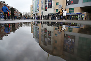 a general view outside Stamford Bridge before the game. Premier league match, Chelsea v Arsenal at Stamford Bridge in London on Saturday 4th February 2017.<br /> pic by John Patrick Fletcher, Andrew Orchard sports photography.