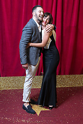 © Licensed to London News Pictures . 16/05/2015 .  The Palace Hotel , Manchester , UK . and Verity Rushworth . The red carpet at the 2015 British Soap Awards , The Palace Hotel , Oxford Road , Manchester . Photo credit : Joel Goodman/LNP