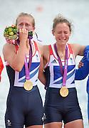 Eton Dorney, Windsor, Great Britain,..2012 London Olympic Regatta, Dorney Lake. Eton Rowing Centre, Berkshire.  Dorney Lake.  .GBR LW 2X Gold Medalist, Bow. Kat COPELAND and Sophie HOSKING..12:36:11  Saturday  04/08/2012 [Mandatory Credit: Peter Spurrier/Intersport Images]