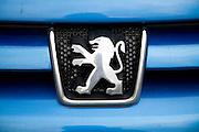 Vauxhall logo on car radiator grill