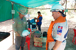 Bill Morse Observing Operations At Land Mine Field