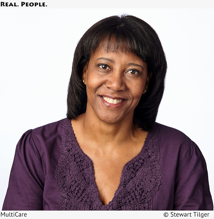 Portrait of an African American female MultiCare patient.