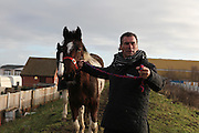Paddy Doherty, his family and friends in Queensferry, North Wales, January 2012