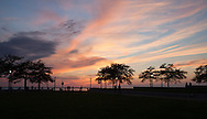 Inner Harbor at sunset Cleveland, Ohio