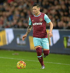 Mauro Zarate of West Ham United - Mandatory byline: Alex James/JMP - 07966 386802 - 20/12/2015 - FOOTBALL - Liberty Stadium - Swansea, England - Swansea City v West Ham United - Barclays Premier League