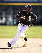 CHICAGO - APRIL 09:  Austin Jackson #10 of the Chicago White Sox runs the bases against the Cleveland Indians on April 9, 2016 at U.S. Cellular Field in Chicago, Illinois.  The White Sox defeated the Indians 7-3.  (Photo by Ron Vesely)  Subject: Austin Jackson