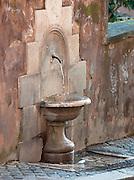 Public Water Fountain at Campidoglio, Rome, Italy.